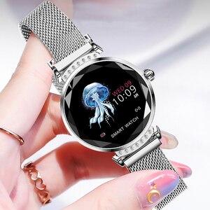 Image 5 - Женские Водонепроницаемые Смарт часы RUNDOING H2, фитнес трекер с пульсометром, модные спортивные Смарт часы для android и IOS