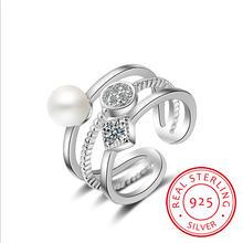 Женские многослойные кольца из стерлингового серебра 925 пробы