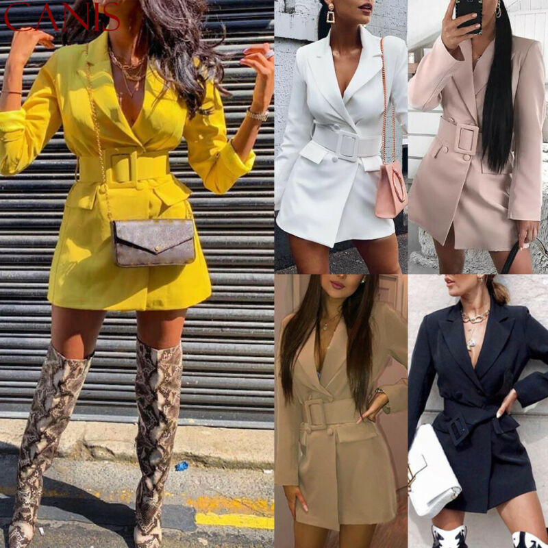2019 NEW Fashion Women's Casual Slim Business Blazer Suit Thin Coat Jacket Outwear Female Long Blasers Dress Autumn