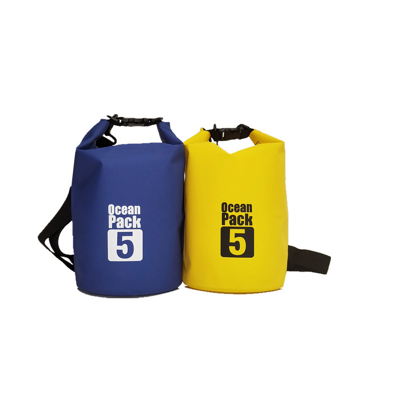PVC Sandwich Waterproof Bucket Bag 3L 5L 10L Waterproof Bag Factory Spot Agent Beach Outdoor Drifting Bag