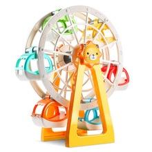 26Pcs Big Size Happy Park City Ferris Wheel Lion Windmill Model Building Blocks Compatible Duploe Figure Toys Baby Gift