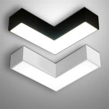Современный минималистский черный/белый энергосберегающий светодиодный