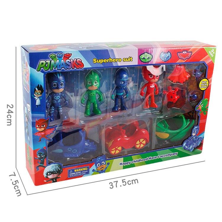 Pj Mask Car Model Figure Catboy Owlette Gekko Masks Toys For Children Gift