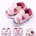 High Quality Handwork Leather Baby Girl Shoes For Hook&Loop Design 0-15M