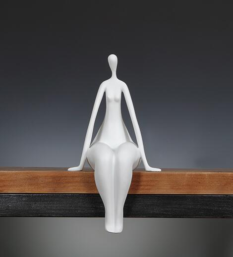 """Popular """"Quiet Female"""" Character Sculpture Abstractive Resin Figure Portrait Statuette Household Decor Gift and Craft Ornament"""