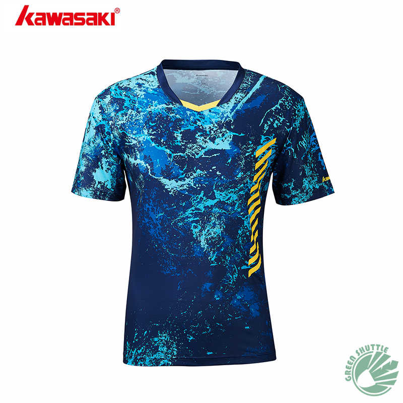 2019 New Kawasaki Summer Badminton Shirt Attracts The Perspiration Permeability To Be Good Couples Clothing St-S1104