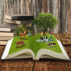 Image 4 - 36 adet 1: 87 minyatür iyi boyalı Model atlar İnekler modeli rakamlar çiftlik manzara manzara düzeni hayvanlar AN8707