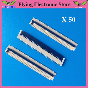 50 шт./лот FPC FFC плоский кабель Разъем 32pin 1,0 мм шаг для интерфейса клавиатуры ноутбука
