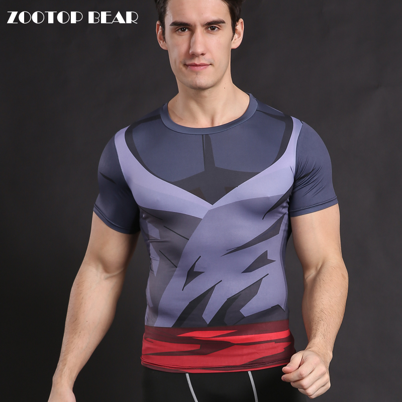 Dragon Ball Z T shirt Compression Tops Men Anime T-shirt Cosplay Tees Men T shirt Goku Costume Male Camiseta ZOOTOP BEAR