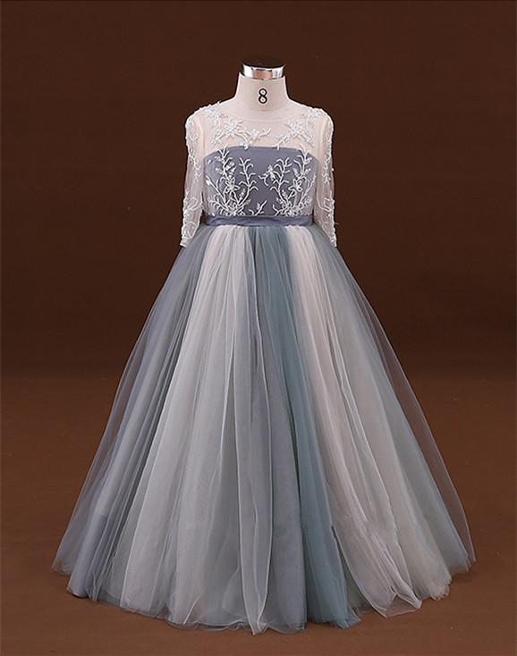 flower girl dresses for wedding lace communion dress for girls Baby child mother daughter kids pageant gowns 2017 2016 sky blue flower girl dresses for wedding communion dresses for girls pageant dresses kids 2016 ball gowns