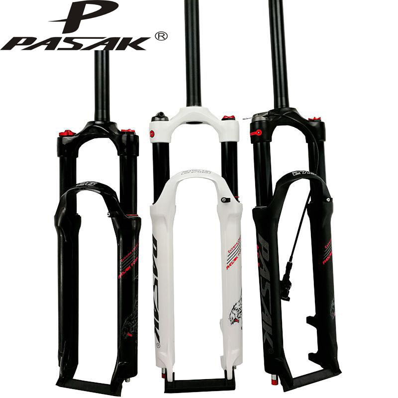 PASAK Mountain bicycle Fork 26in 27.5in 29 inch MTB bikes suspension fork air damping front fork remote and manual control HL RL