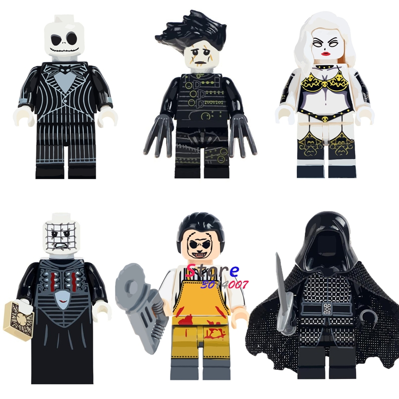 Logical 50pcs The Horror Halloween Theme Movie Jeepers Creepers Lady Death Pinhead Pincushion Building Block Bricks For Kit Children Toy Blocks