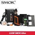 Original smok tfv8 alienígena kit 220 w caixa mod com 3 ml bebê tanque vaporizador e cigarro eletrônico vape kit smok alienmod vs ultra