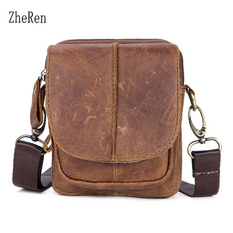 The new men's baotou leather shoulder bag is a Bag of genuine leather bags aetoo the new oil wax cow leather bags real leather bag fashion in europe and america big capacity of the bag