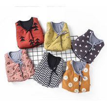 Children Clothing Funny Vests Baby Boys And Girls Cotton Waistcoats Fall Winter Sleeveless Inside/Outerwear Covered Button Coats
