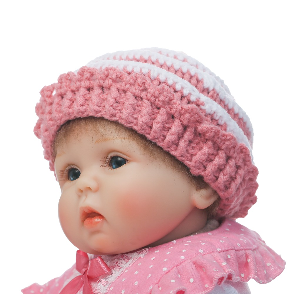 NPK 18inch 40cm Lifelike Realistic Reborn Lovely Premmie Baby Doll Reborn Baby Playing Toys for Kids Christmas Gift