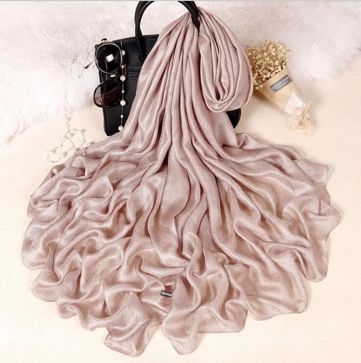 Solid Linen Silk Scarf Shawl summer Scarf Women Beautiful Scarves warp Foulards Femme ...