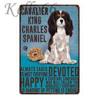 CAVALIER KING CHARLES SPANIEL Metal Sign Tin Poster Home Decor Pet Store Wall Art Painting 20*30 CM Size y-1615