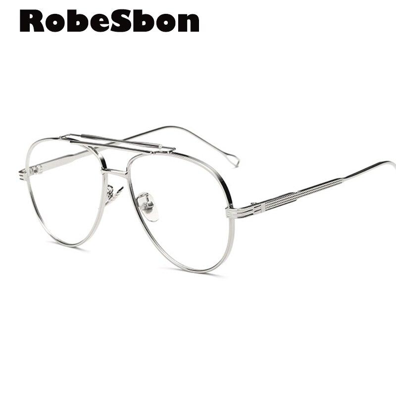 Classic Gold Clear Eyeglasses Frame Men Oversized Glasses for Women Computer Glasses Frame Business Men Eyewear Frame Newest
