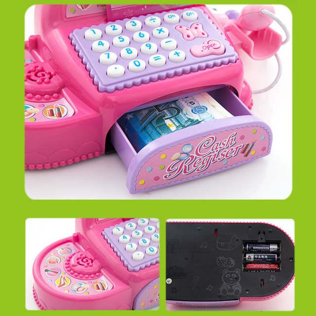 Online Simulation Ticket Box Office Children Supermarket Cash Register Toy Puzzle Cashbox Pretend Play Aliexpress