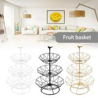3 Tier Fruit Plate Countertop Metal Fruit Basket Multi Layer Vintage Style Tray Stand Storage Basket Kitchen Fruit Basket