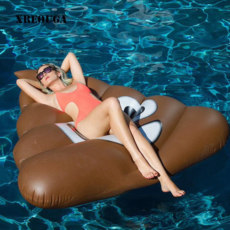 160cm Inflatable Funny Shit Giant Pool Float Mattress Toy Beach Sunbathe Mat Swimming Water Party Bed Sea Beach Toys PF016 giant pool float inflatable watermelo lazy air mattress bed swim ring feamle floating row water fun toy swimming laps