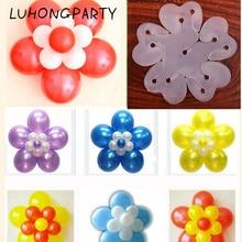 New 100pcs/lot Balloon Seal Clip Multi Sticks Accessories Plum Flower Practical Sealing Clamp