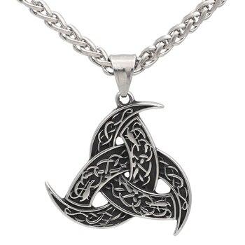 Viking Odin'S Horn Pendant Necklace  Viking Necklace