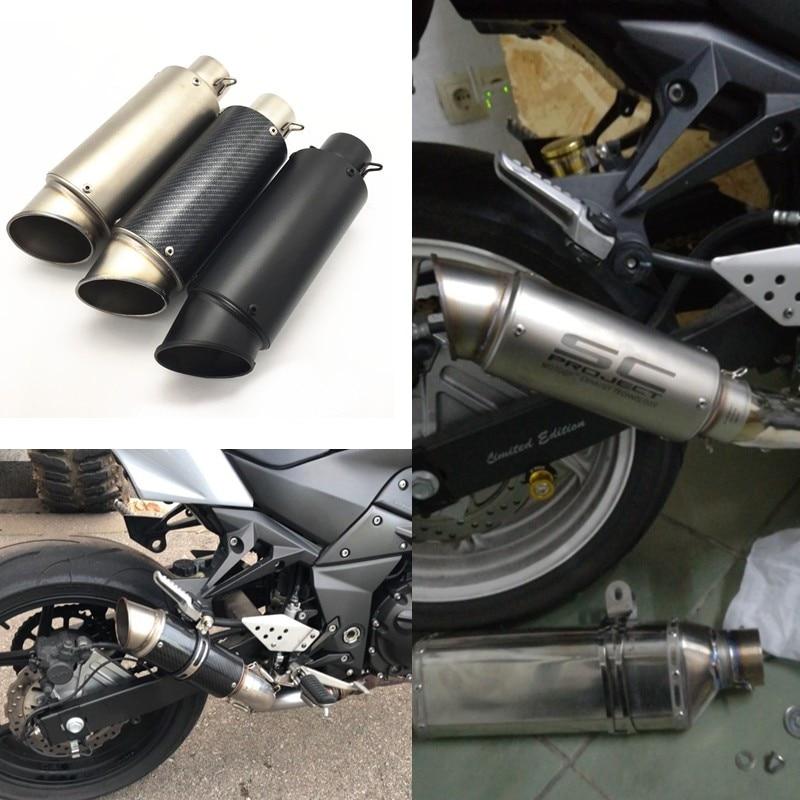 Esmerado Modificado Universal Moto Rcycle Sc Proyecto Moto Gp 51 Mm Tubo Silenciador De Escape Trasero Con Logotipo Láser DisipacióN RáPida Del Calor