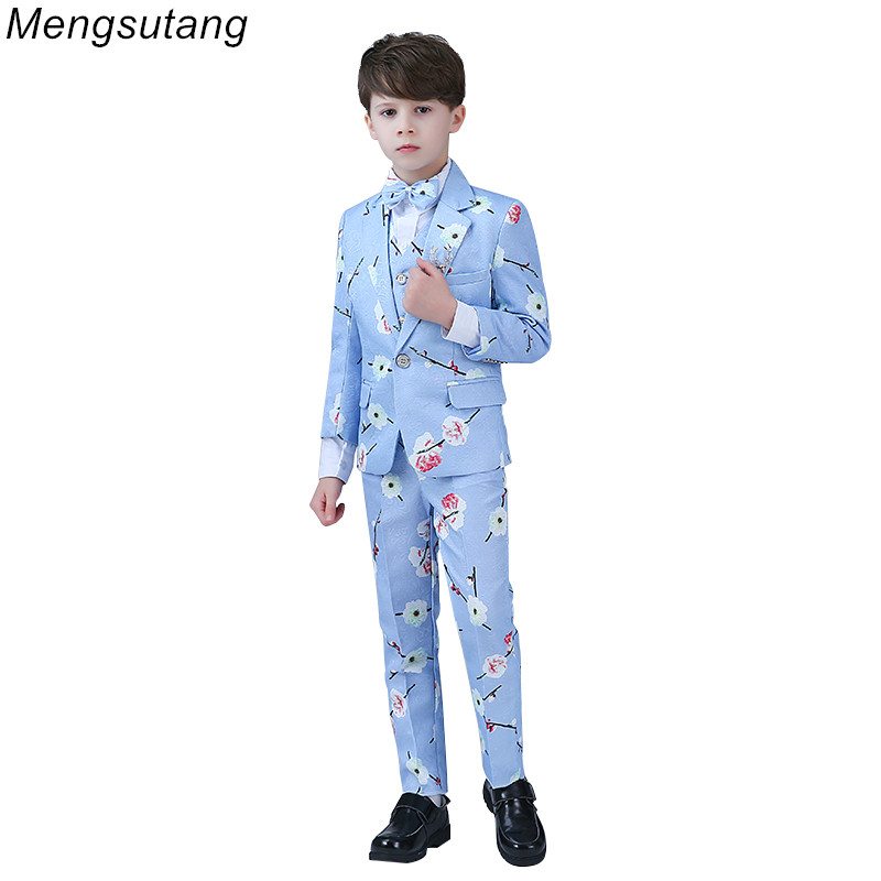 Robe De Soiree New Elegant Party Suit Boys 2019 Formal Boys Attire Wedding Tuxedo Boys Prom Suits Mariages Perform Dress Custom