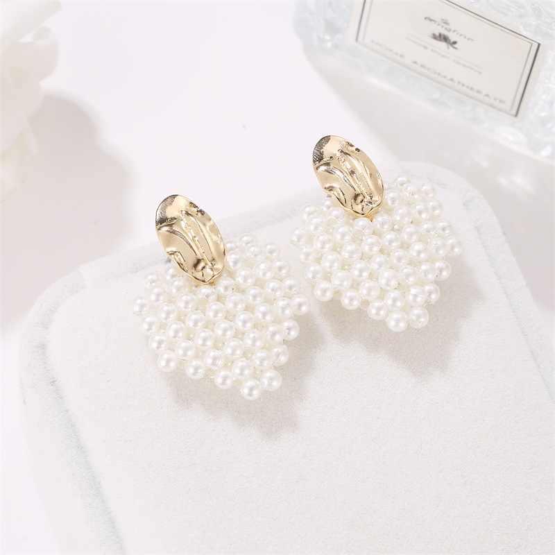 2019 Pearl komunikat jasny zroszony imitacja perły spadek kolczyki dla kobiet moda biżuteria impreza akcesoria Femme kolczyki