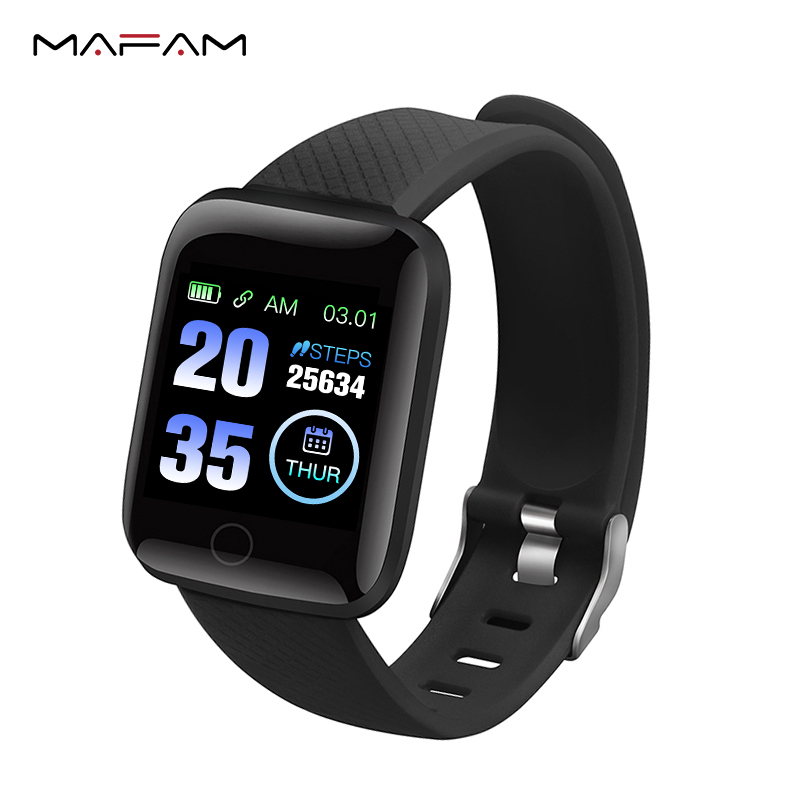 MAFAM 116 Plus Smart Bracelet Color Screen Blood Pressure Heart Rate Monitor Smart Wristbands Fitness Tracker For IOS Android xanes a6s