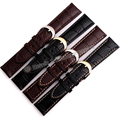 18mm 19mm 20mm 21mm 22mm Marrom faixa de Relógio de Tiras de Aço Pin fecho Acessórios Relógio para homens relógios com linha branca moda