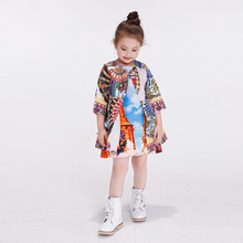 NEW 2016 girls printed trench coat Kids Floral Dobby Clothing
