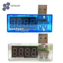 Curved USB Power Charger Current Voltage Tester Pack with 4-Digit Red Display 3.5~7V 0~3A Detector