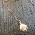 Золото Seashell Ожерелье Крошечные Seashell Русалка Ожерелье Для Женщин Невесты Подарки XL219
