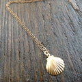 Gold Seashell Necklace Tiny Seashell Mermaid Necklace For  Women Bridesmaid Gifts   XL219