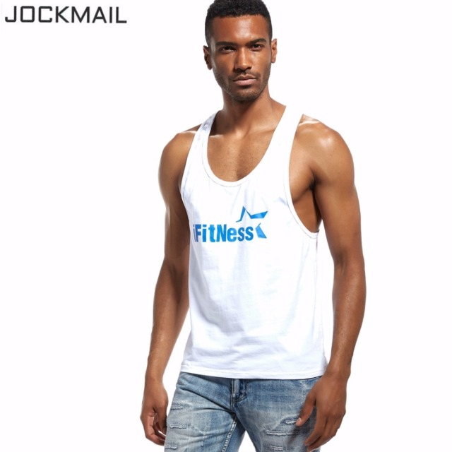 huge selection of ef18a 39e62 US $9.66 30% OFF|JOCKMAIL Marke Mens trägershirts Metrosexual Armausschnitt  Lebendige Weste Muscle Singuletts Workout Fitness Bodybuilding Männer ...
