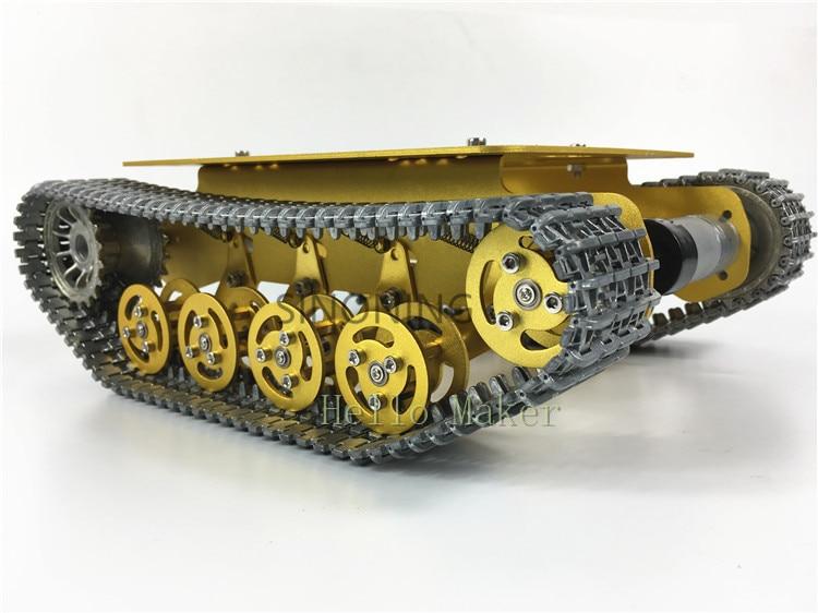 TS100 Robot Tank Chassis Shock Absorption Metal Caterpillar Suspension Crawler Caterpillar for Arduino 33GB520 6 to 12V MOTOR