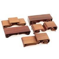 Red Sandalwood Rosewood Handicrafts Vase Base Solid Wood Stone Base Jade Buddha Wooden Scroll