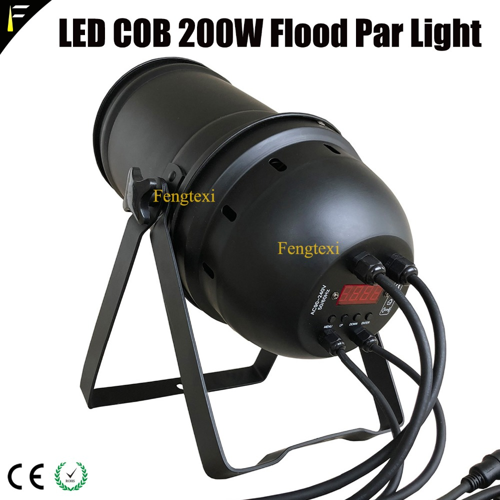 Commercial Lighting Floodlight Par56 200w Cob Led Zoom Par Can Gold Color Warm White Warm Spot Light Par 200w 5chs Dmx512 With Traditional Housing