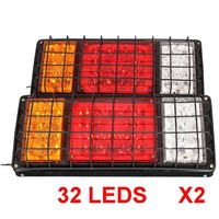 1 Pair 12v 24v LED Stop Rear Turn Signal Stop Rear Tail Indicator Lights Reverse Lamps