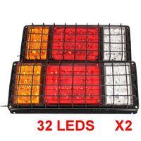 1 Pair 12v 24v LED Stop Rear Turn Signal Stop Rear Tail Indicator Lights Reverse Lamps