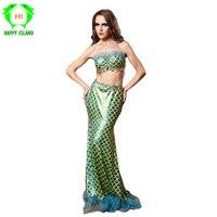 2019 New Adult Women Fantasia Mermaid Tail Costume Sexy Adult Ariel Mermaid Dress Cosplay Sea Maid Halloween Costume For Girls