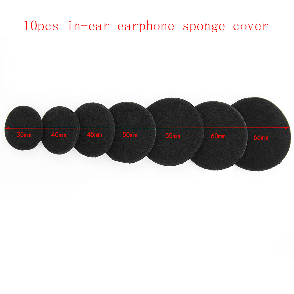 Ouhaobin Hot Popular 1 Pair Replacement Cushion Ear Pad For 55mm Headphones Soft Durable Black High Quality Earpad Sep5 Earphone Accessories
