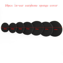 10 Pc Black Durable Soft Sponge Headband Earbud Headphone Pad Cushion Ear Replacement Cover Wholesale Fast Free shopping(China)
