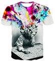 O pensador impressão da t-shirt Unisex mulheres / homens 3d t camisa homens / mulheres harajuku t-shirt plus size S-3XL