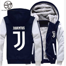 Gzpw cosplay Juventus 2018 High quality Hoodies plus velvet thick fashion hooded sweater coat couple models USA size S-5xL