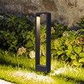 Thrisdar 30/60 см для отдыха на открытом воздухе дорожка газонная лампа Алюминий Водонепроницаемый двор виллы стенд световой столб Park Post световой...