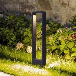 Thrisdar 30/60 CM Außen Pathway Rasen Lampe Aluminium Wasserdicht Villa Hof Stand Poller Licht Park Post Säule Licht